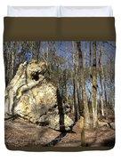 Peach Tree Rock-5 Duvet Cover