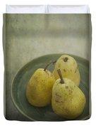 Pears Duvet Cover by Priska Wettstein