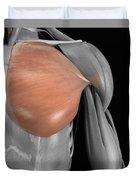 Pectoralis Major Muscle Duvet Cover