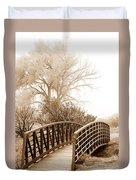Pedestrian Bridge Duvet Cover