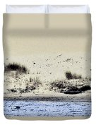 Pelican At Coorong Duvet Cover