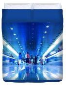 People Rush In Subway Duvet Cover