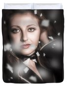 Performing Arts Woman. Romantic Stage Performance Duvet Cover