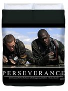 Perseverance Inspirational Quote Duvet Cover