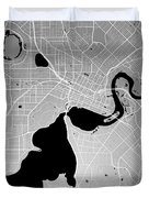 Perth Street Map - Perth Australia Road Map Art On Colored Backg Duvet Cover