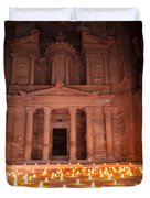 Petra By Night Duvet Cover