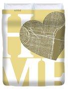 Philadelphia Street Map Home Heart - Philadelphia Pennsylvania R Duvet Cover