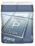 Phosphorus Chemical Element Duvet Cover