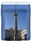 Piazza Colonnai Rome Duvet Cover