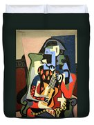 Picasso's Harlequin Musician Duvet Cover