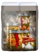 Pickled Vegetables Duvet Cover