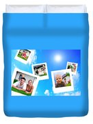 Pictures Of Happy Family Duvet Cover