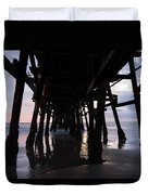 Pier In The Pacific Ocean, San Clemente Duvet Cover