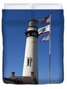 Pigeon Point Lighthouse Pescadero California Duvet Cover