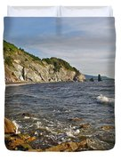 Pillar Rock In Cape Breton Highlands Np-ns Duvet Cover
