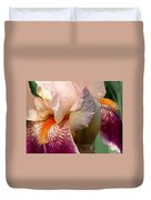 Pink And Purple Iris Duvet Cover
