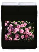 Pink Button Pom Flowers Duvet Cover