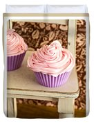Pink Cupcakes Duvet Cover