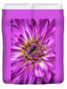 Pink Dahlia Close Up Duvet Cover