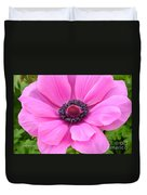 Pink Anemone  Duvet Cover