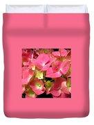 Pink Hydrangea Flowers Duvet Cover