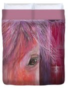Pink Pony Duvet Cover
