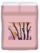Pink - Sunrise Drawing Duvet Cover