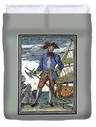 Pirate Edward England Duvet Cover