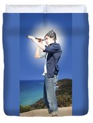 Pirate With Spyglass Duvet Cover