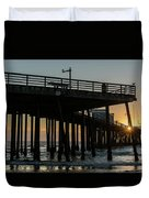 Pismo Beach Pier At Sunset, San Luis Duvet Cover