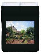 Pissarro's The Artist's Garden At Eragny Duvet Cover by Cora Wandel