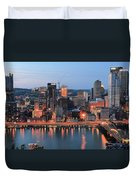 Pittsburgh At Dusk Duvet Cover