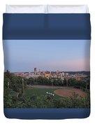 Pittsburgh Skyline At Dusk Duvet Cover