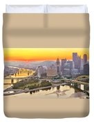 Pittsburgh Sunrise Panorama Duvet Cover
