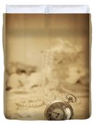 Pocket Watch Duvet Cover by Amanda Elwell
