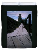 Point Conception Lighthouse Duvet Cover