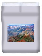 Point Imperial 8803 Feet On North Rim Of Grand Canyon National Park-arizona  Duvet Cover