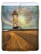 Point Of Ayre Lighthouse Duvet Cover