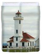 Point Wilson Lighthouse Duvet Cover