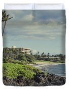 Polo Beach Wailea Point Maui Hawaii Duvet Cover