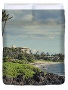 Polo Beach Wailea Point Maui Hawaii Duvet Cover