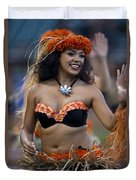 Polynesian Dancers Duvet Cover by Jason O Watson