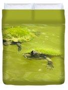 Pond Turtles Duvet Cover