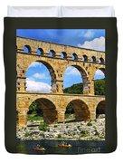 Pont Du Gard In Southern France Duvet Cover