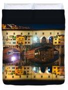 Ponte Vecchio - Florence Duvet Cover