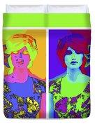 Pop Art Girl Duvet Cover