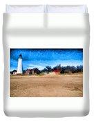 Port Huron Light House Duvet Cover