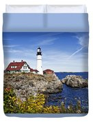 Portland Head Lighthouse Duvet Cover