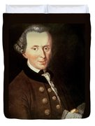 Portrait Of Emmanuel Kant Duvet Cover