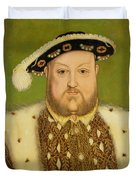Portrait Of Henry Viii Duvet Cover